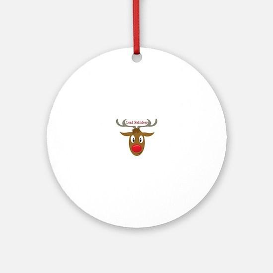 Lead Reindeer Ornament (Round)