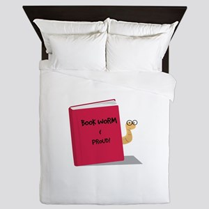 Proud Book Worm Queen Duvet