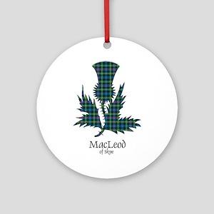 Thistle-MacLeodSkye Round Ornament