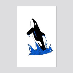 Jumping Killer Whale Orca Mini Poster Print
