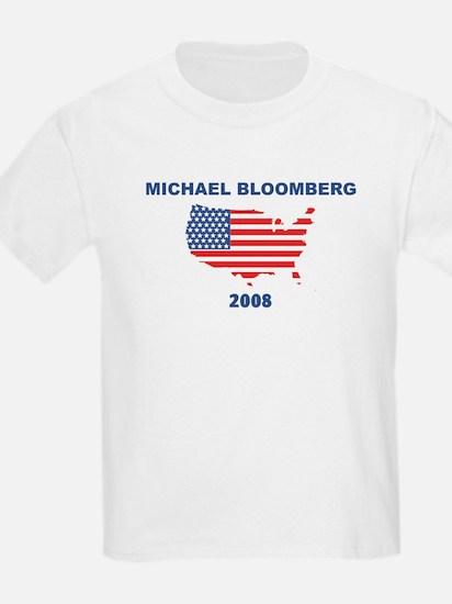 MICHAEL BLOOMBERG 2008 (US Fl T-Shirt