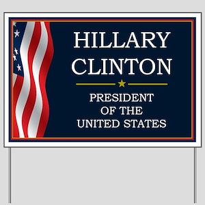 Hillary Clinton President V3 Yard Sign