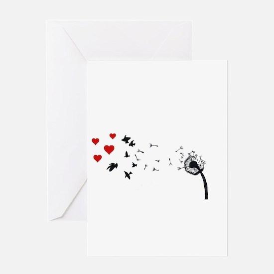 Dandelion Love Greeting Cards