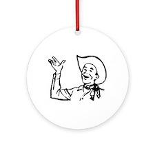 Big Texas Howdy Y'all Ornament (Round)