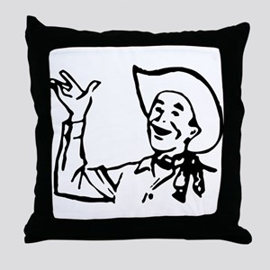 Big Texas Howdy Y'all Throw Pillow
