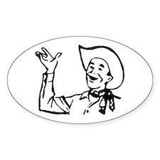 Big Texas Howdy Y'all Oval Sticker