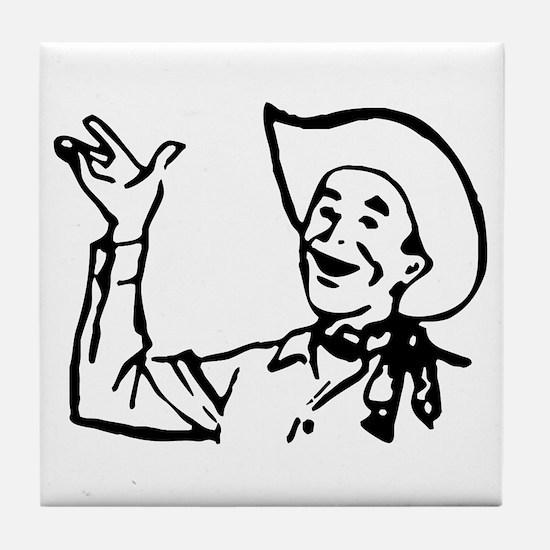 Big Texas Howdy Y'all Tile Coaster
