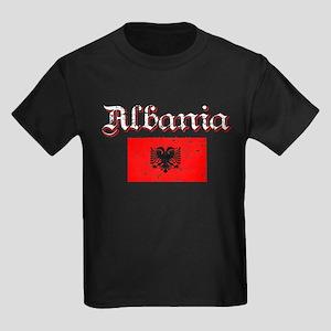 Albanian Flag Kids Dark T-Shirt