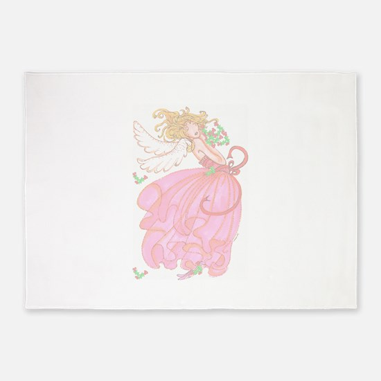 holly angel.png 5'x7'Area Rug