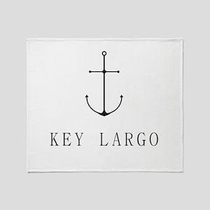 Key Largo Sailing Anchor Throw Blanket