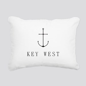Key West Sailing Anchor Rectangular Canvas Pillow