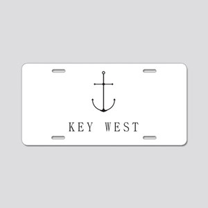 Key West Sailing Anchor Aluminum License Plate