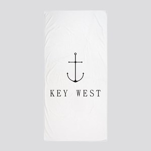 Key West Sailing Anchor Beach Towel