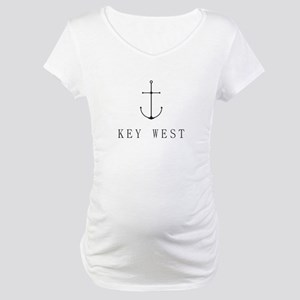 Key West Sailing Anchor Maternity T-Shirt