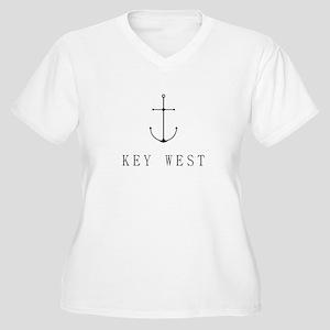 Key West Sailing Anchor Plus Size T-Shirt