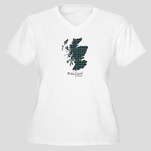 Map-MacLeodSkye Women's Plus Size V-Neck T-Shirt
