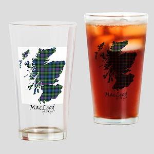 Map-MacLeodSkye Drinking Glass
