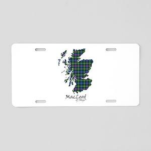 Map-MacLeodSkye Aluminum License Plate