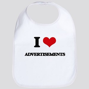 I Love Advertisements Bib