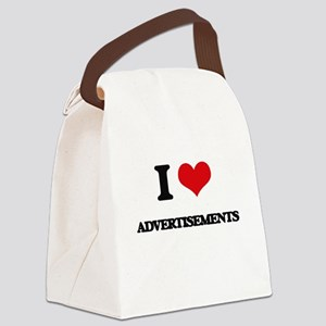 I Love Advertisements Canvas Lunch Bag
