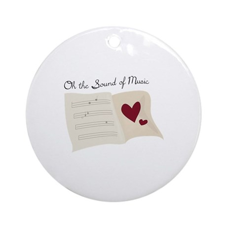 Sound Of Music Ornament Round By Windmill31
