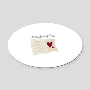 Sound of Music Oval Car Magnet