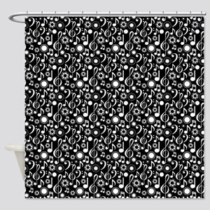 Music Notes and Clefs Shower Curtain