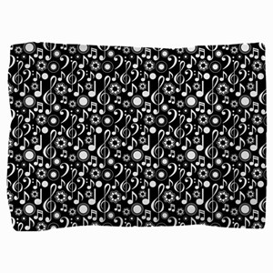 Music Notes and Clefs Pillow Sham