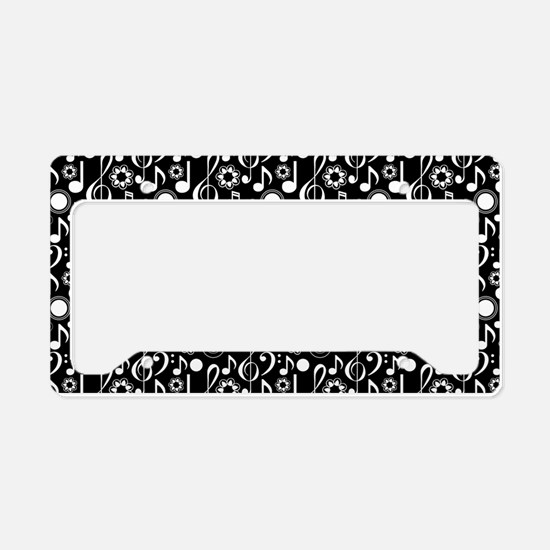 Music Notes and Clefs License Plate Holder