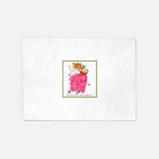 Peaceful Holly Angel 5'x7'Area Rug