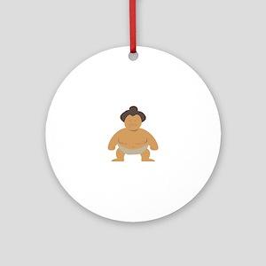 Sumo Wrestler Ornament (Round)