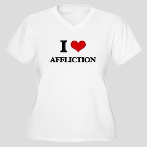 I Love Affliction Plus Size T-Shirt