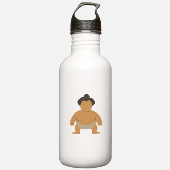 Sumo Wrestler Water Bottle