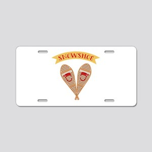 Snowshoes Aluminum License Plate