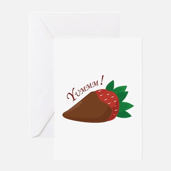 Yummm! Strawberry Greeting Cards