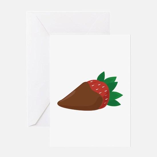 Chocolate Strawberry Greeting Cards