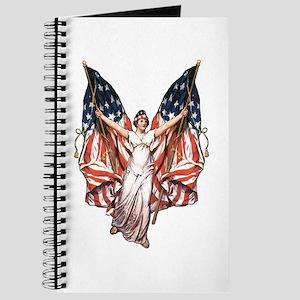 Vintage American Flag Art Journal
