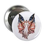 Vintage American Flag Art Button