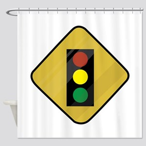 Signal Sign Shower Curtain