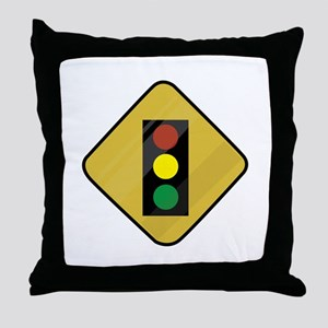 Signal Sign Throw Pillow