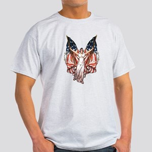 Vintage American Flag Art Light T-Shirt
