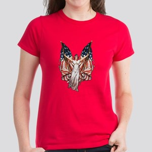 Vintage American Flag Art Women's Dark T-Shirt