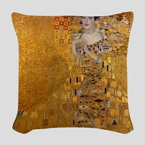 Klimt's Adele H Woven Throw Pillow
