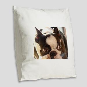 Adorable Jewels Burlap Throw Pillow