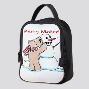Wheaten Snowman Neoprene Lunch Bag