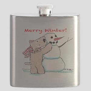 Wheaten Snowman Flask