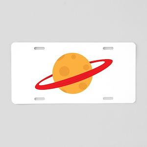 Planet Aluminum License Plate