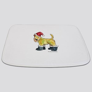 Wheaten Santa Bathmat
