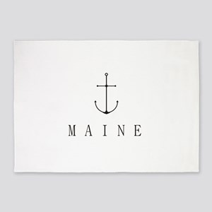 Maine Sailing Anchor 5'x7'Area Rug