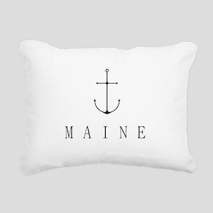Maine Sailing Anchor Rectangular Canvas Pillow
